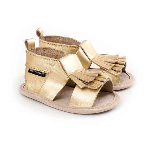 FRINGE SANDAL Gold (S and M only)