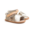 Gold Valencia sandal pair Pretty Brave baby shoe