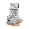 grey mouse menorca sandal box Pretty Brave baby shoes zoo