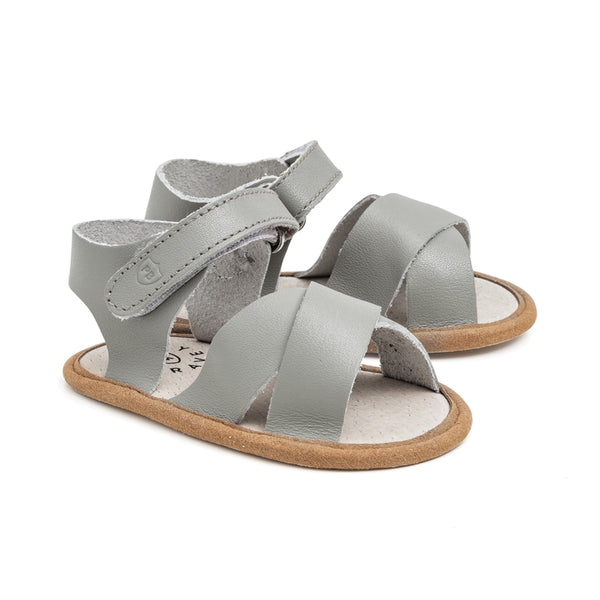 valencia grey sandal pair PrettyBrave baby shoe for boy