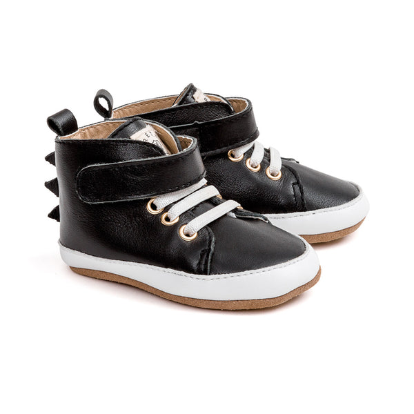 black dragon hi-top pair Pretty Brave baby shoes