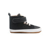 jet black hi top boot side Pretty Brave baby shoes
