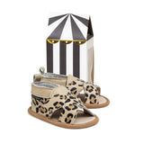 cross-over leopard sandal box PrettyBrave baby shoe