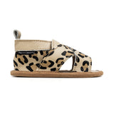 cross-over leopard sandal side PrettyBrave baby shoe
