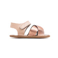 rio rose gold side Pretty Brave baby shoes