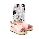 Pink Quartz sandal box Pretty Brave baby shoe