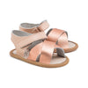 rose gold valencia sandal pair Pretty Brave baby shoes for girl