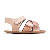 rose gold valencia sandal side Pretty Brave baby shoes for girl