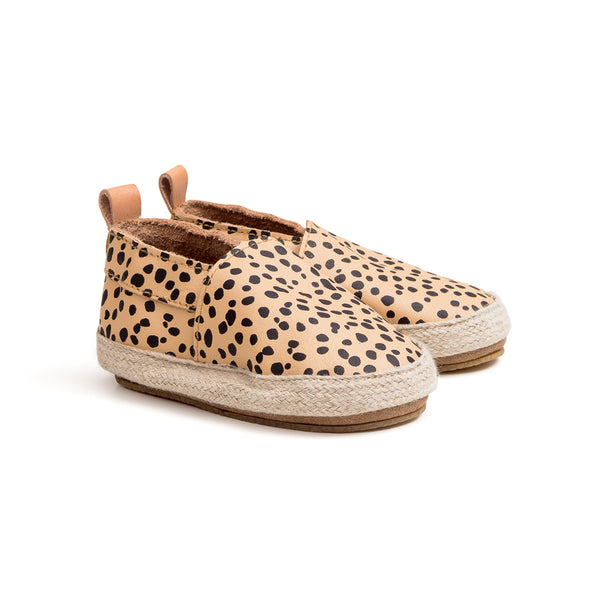 safari spots espadrille pair Pretty Brave baby shoe