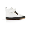 white hi-top side Pretty Brave baby shoes