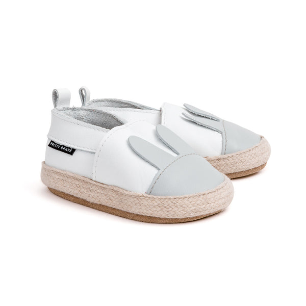 white rabbit espadrille Pretty Brave baby shoes zoo