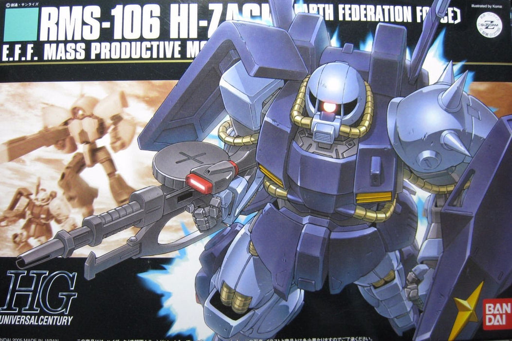 BANDAI HGUC 1/144 RMS-106 HI-ZACK EARTH FEDERATION FORCE Plastic Model Kit japan_1