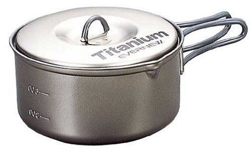 EVERNEW ECA422 Ti Non-Stick Pot 900ml Titanium from Japan_1