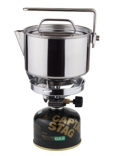CAPTAIN STAG M-7296 Camping Kettle Cooker 14cm 1.3L Outdoor Cookware NEW Japan_3
