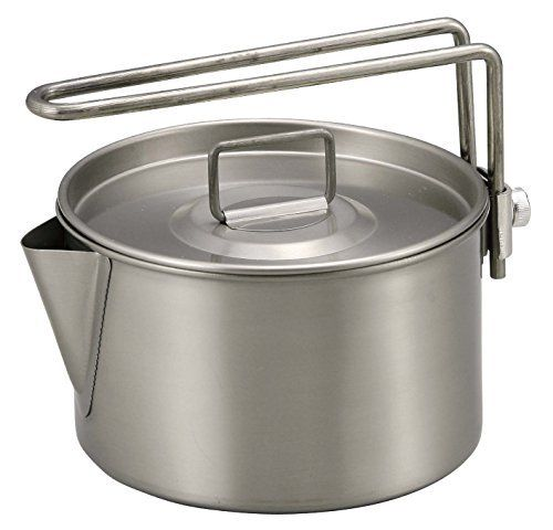 CAPTAIN STAG M-9082 Titanium Kettle Cooker 900ml Outdoor Goods Made in Japan NEW_2