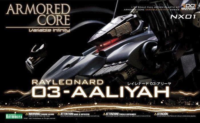 KOTOBUKIYA ARMORED CORE NX01 RAYLEONARD 03-AALIYAH 1/72 Plastic Model Kit NEW_1