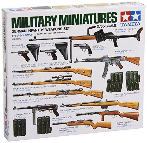 TAMIYA 1/35 German Infantry Weapons Set Model Kit NEW from Japan_1