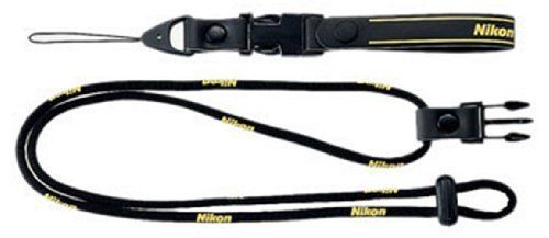 Nikon 2-Way Neck Strap Black for Compact Digital Camera NEW from Japan F/S_1