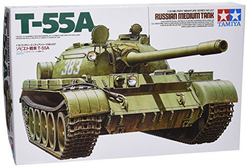 TAMIYA 1/35 Russian Medium Tank T-55A Model Kit NEW from Japan_1