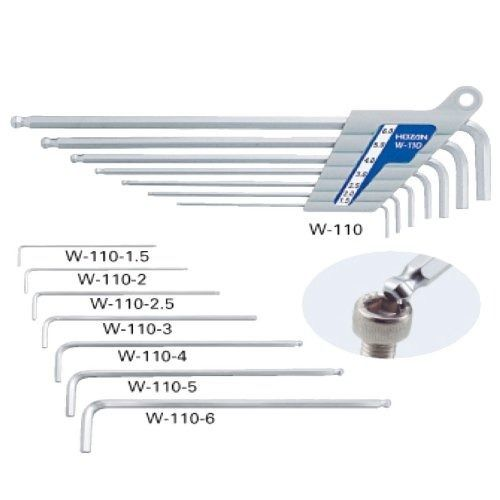 HOZAN W-110 BALLPOINT L-WRENCH SET 7pcs Bicycle Tool from Japan_1