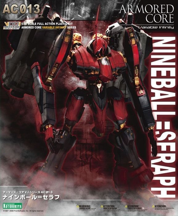 KOTOBUKIYA ARMORED CORE AC013 NINEBALL=SERAPH 1/72 Plastic Model Kit NEW Japan_1