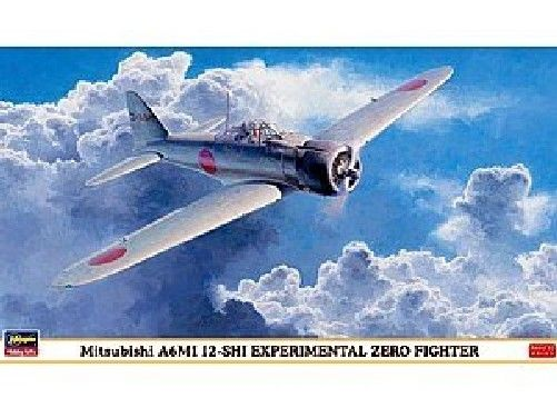Hasegawa 1/48 Mitsubishi A6M1 12-Shi Experimental Zero Fighter Model Kit NEW_1