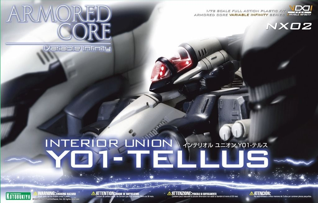 KOTOBUKIYA ARMORED CORE NX02 INTERIOR UNION Y-01 TELLUS 1/72 Plastic Model Kit_6