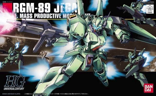 BANDAI HGUC 1/144 RGM-89 JEGAN Gundam Char's Counter Attack Plastic Model Kit_1