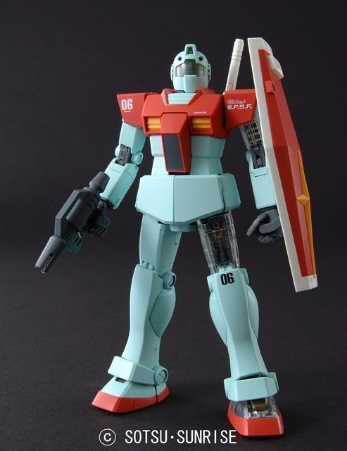 BANDAI MG 1/100 RGM-79 GM Ver 2.0 with Extend Clear Parts Plastic Model Kit_2
