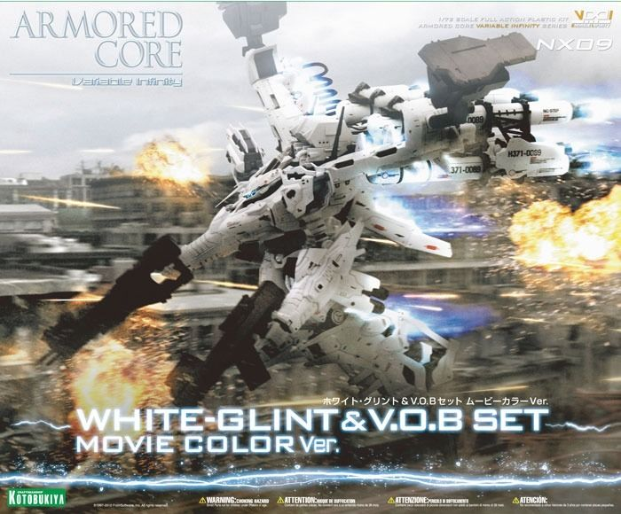 KOTOBUKIYA ARMORED CORE NX09 LINEARK WHITE-GLINT & V.O.B SET MOVIE COLOR Ver Kit_1