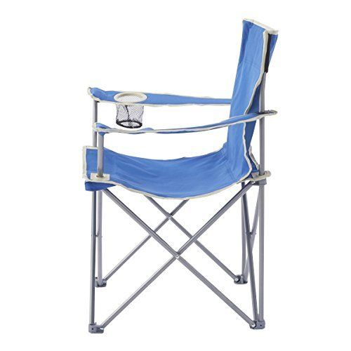 CAPTAIN STAG Outdoor Chair Palette Lounge Chair type 2 With Drink Holder Blue_2