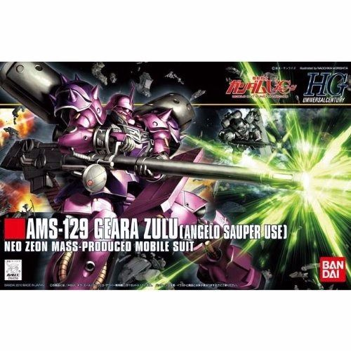 BANDAI HGUC 1/144 AMS-129 GEARA ZULU ANGELO SAUPER USE Plastic Model Kit Japan_1