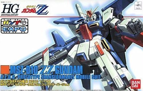 BANDAI HGUC 1/144 MSZ-010 ZZ GUNDAM CLEAR COLOR Ver Model Kit Gundam EXPO_1