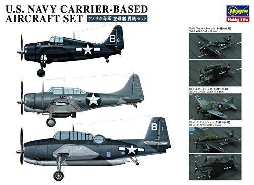 Hasegawa 1/350 U.S. Navy Carrier-Based Aircraft Set Model Kit NEW from Japan_2
