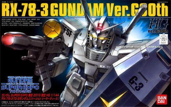BANDAI HG 1/144 RX-78-3 G-3 GUNDAM Ver G30th Plastic Model Kit NEW from Japan_1