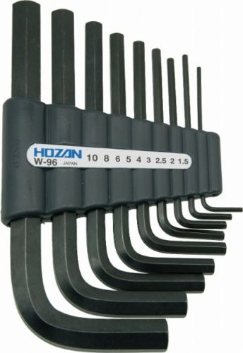 HOZAN W-96 HEX WRENCH SET 9 pieces Bicycle Tool from Japan_1