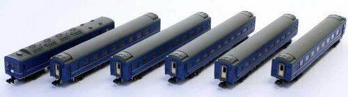 Z Scale J.N.R. Series24 Type25 Passenger Car (Basic 6-Car Set) NEW from Japan_2