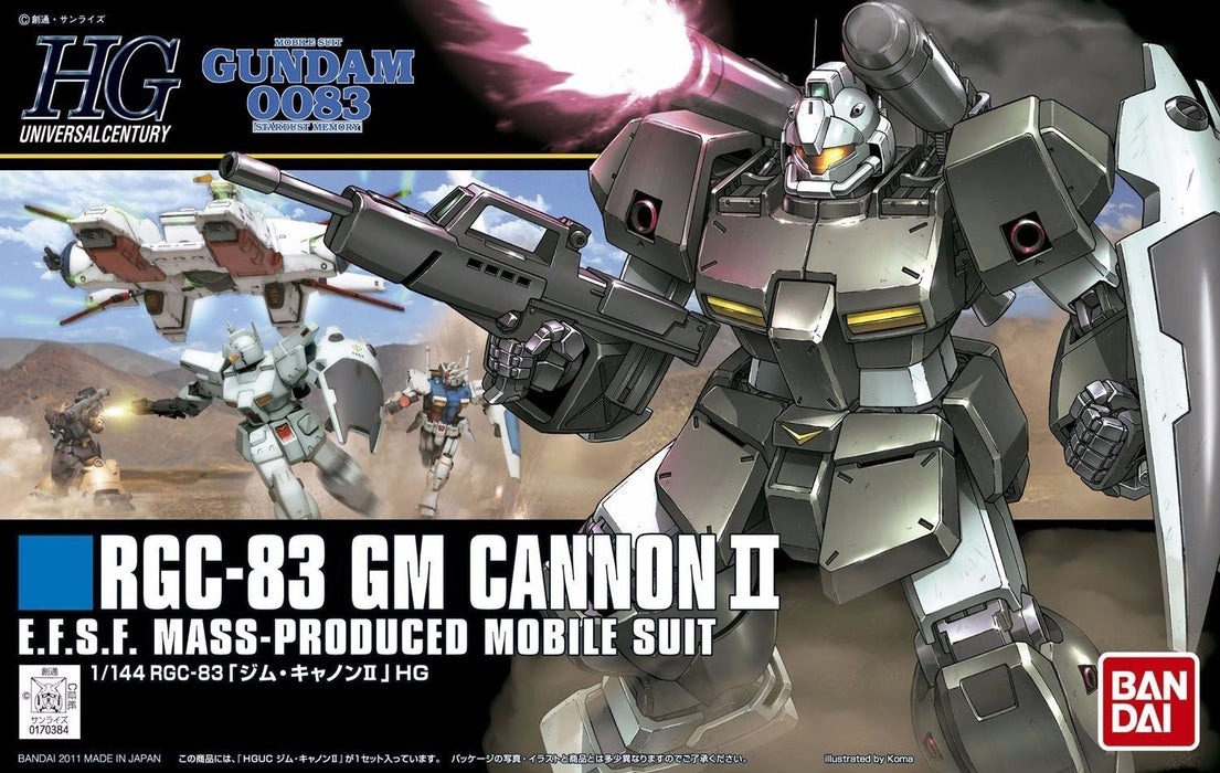 BANDAI HGUC 1/144 RGC-83 GM CANNON II Plastic Model Kit Mobile Suit Gundam 0083_1