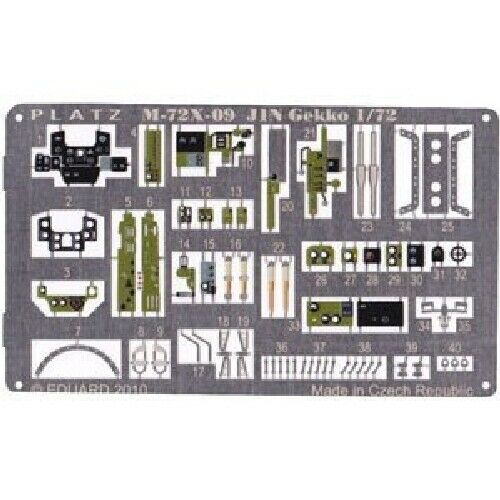 Platz 1/72 Detail Up Etching Parts for Night Fighter Gekko Plastic Model Kit NEW_1