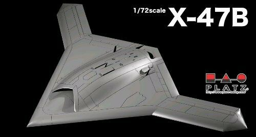 Platz 1/72 U.S.Navy UCAS X-47B Plastic Model Kit NEW from Japan_1
