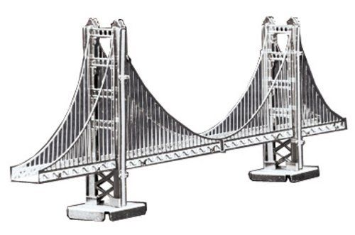 Tenyo Metallic Nano Puzzle Golden Gate Bridge Model Kit NEW from Japan_1
