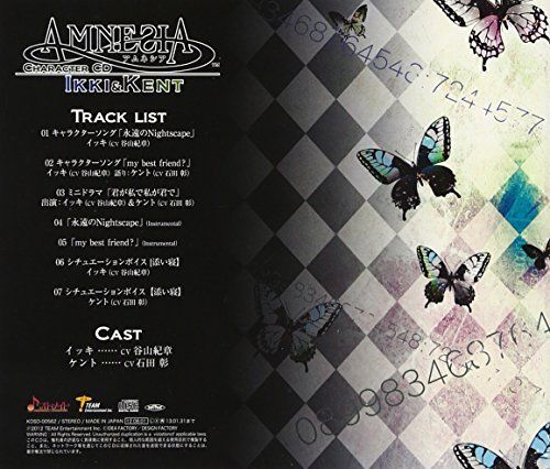 [CD] AMNESIA Character CD -Ikki & Kento Hen Kishou Taniyama... NEW from Japan_2