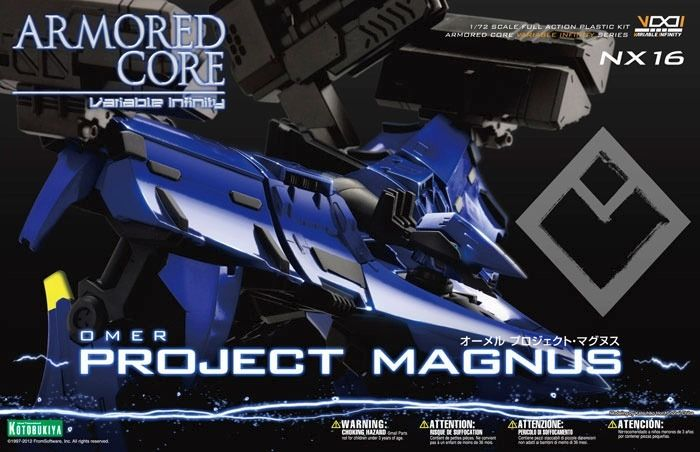 KOTOBUKIYA ARMORED CORE NX16 OMER PROJECT MAGNUS 1/72 Plastic Model Kit NEW F/S_1