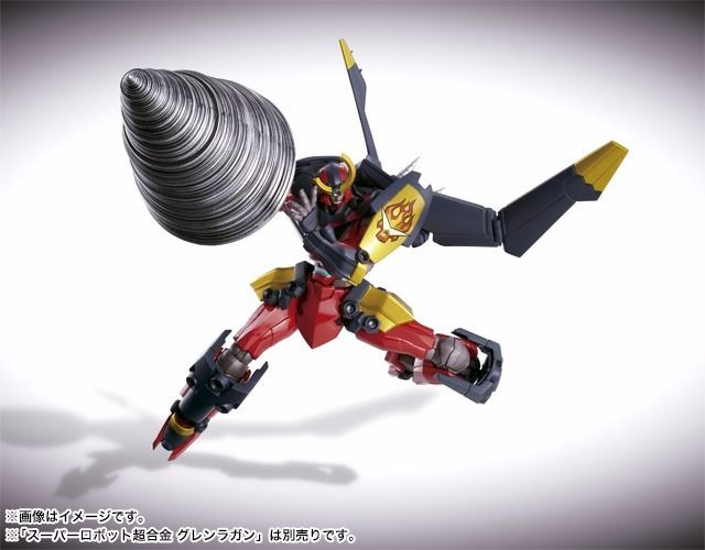 Super Robot Chogokin Gurren Lagann OTOKO no DRILL Set BANDAI TAMASHII NATIONS_3