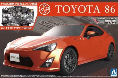 Aoshima The Best Car GT TOYOTA 86 '12 w/Engine Plastic Model Kit from Japan_1