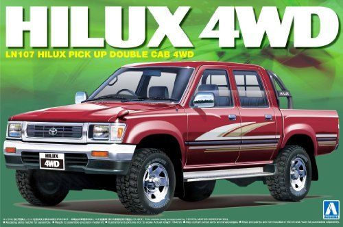 Aoshima TOYOTA LN107 Hilux Pickup Double Cab 4WD Plastic Model Kit from Japan_1