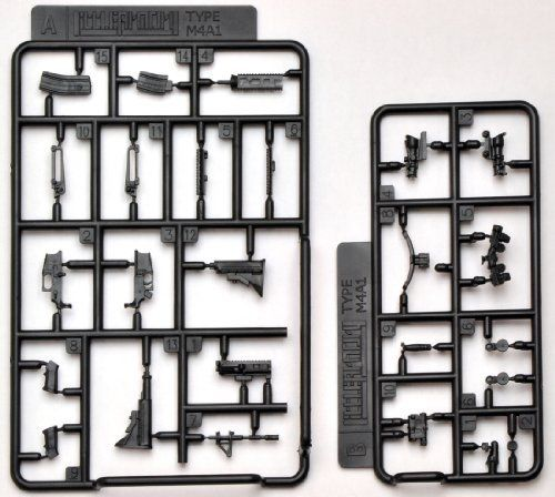 Tomytec 1/12 Little Armory (LA001) M4A1 Plastic Model NEW from Japan_5