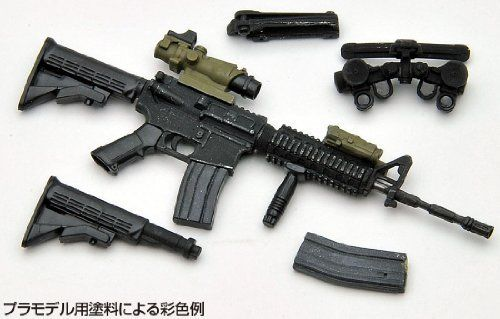 Tomytec 1/12 Little Armory (LA001) M4A1 Plastic Model NEW from Japan_7