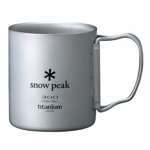 snow peak MG-052FHR TI-DOUBLE 300 MUG FH Titanium NEW from Japan_1