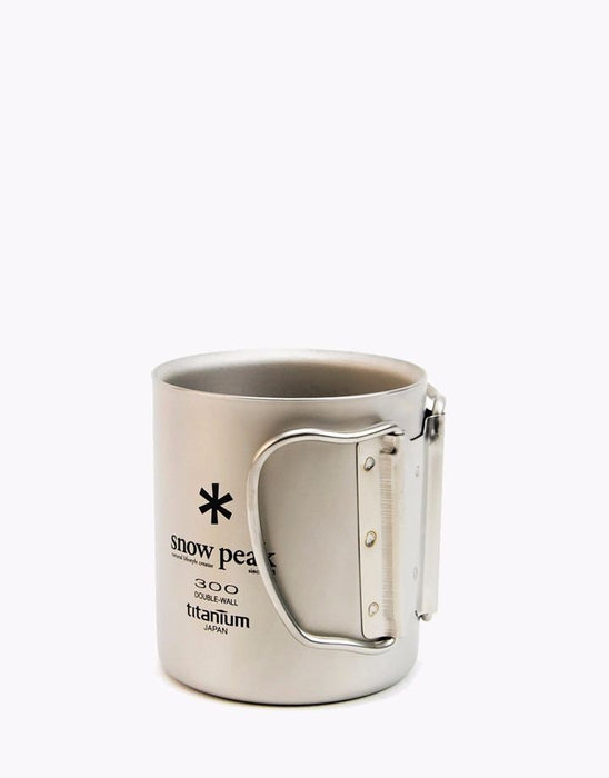 snow peak MG-052FHR TI-DOUBLE 300 MUG FH Titanium NEW from Japan_2